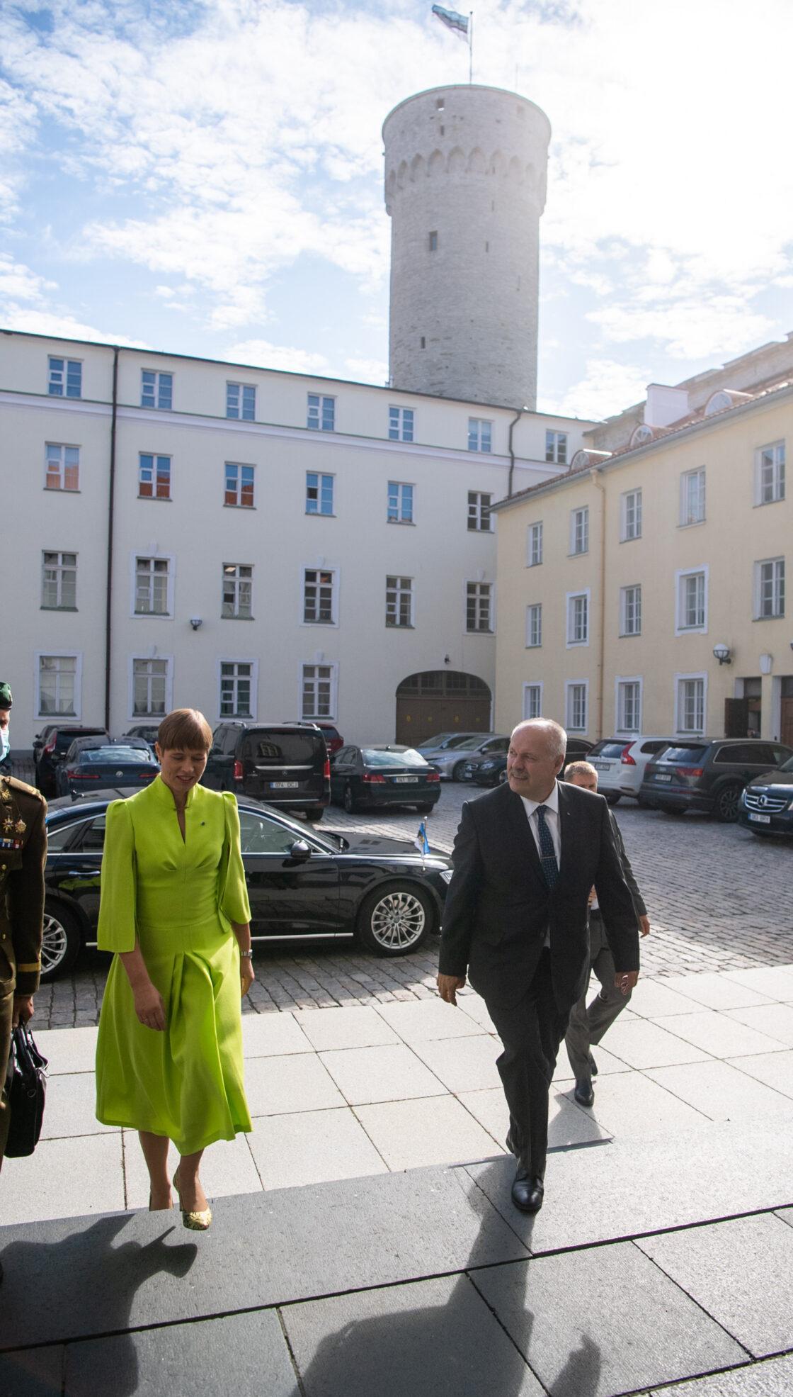 President Kersti Kaljulaid ja Riigikogu esimees Henn Põlluaas