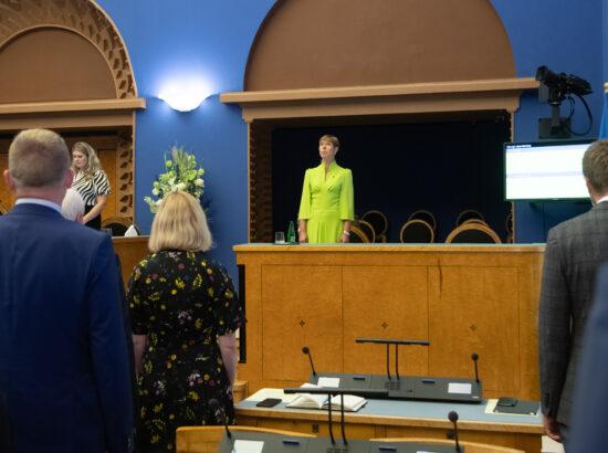 Riigikogu sügistungjärgu avaistung, 14. september 2020