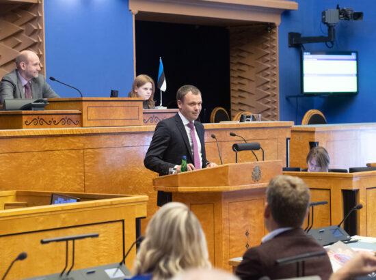 Täiskogu istung, Riigikogu nimetas Urmas Volensi Riigikohtu liikmeks