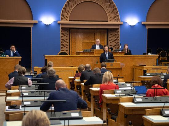 Peaministri poliitiline avaldus seoses 2021. aasta riigieelarve seaduse eelnõu üleandmisega