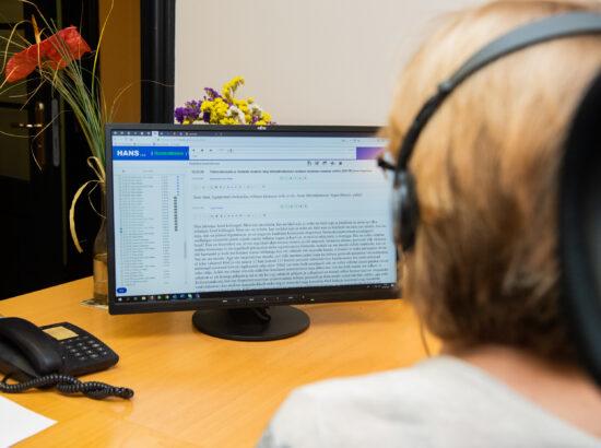 Riigikogu istungite stenografeerimise süsteemi Hans tutvustus