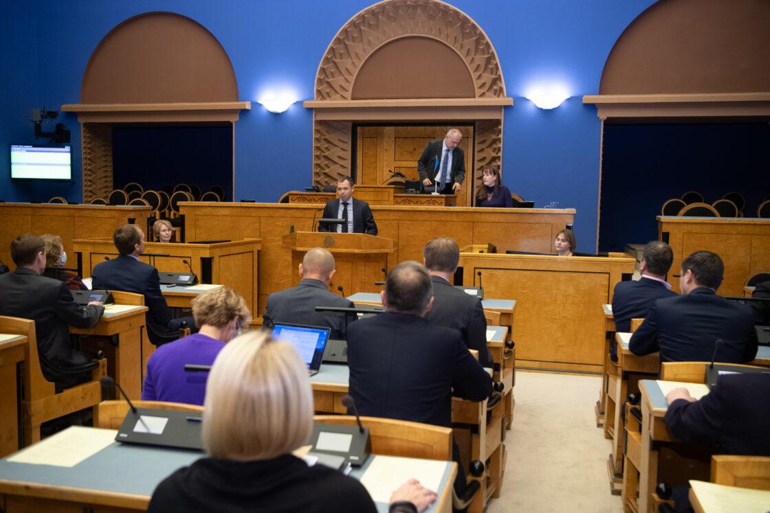 Täiskogu istung, Riigikohtu liikme Urmas Volensi ametivanne