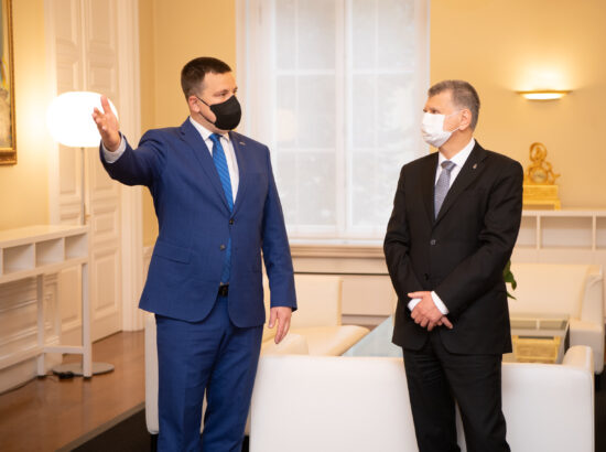 Ungari parlamendi esimees László Kövér kohtub peaminister Jüri Ratasega