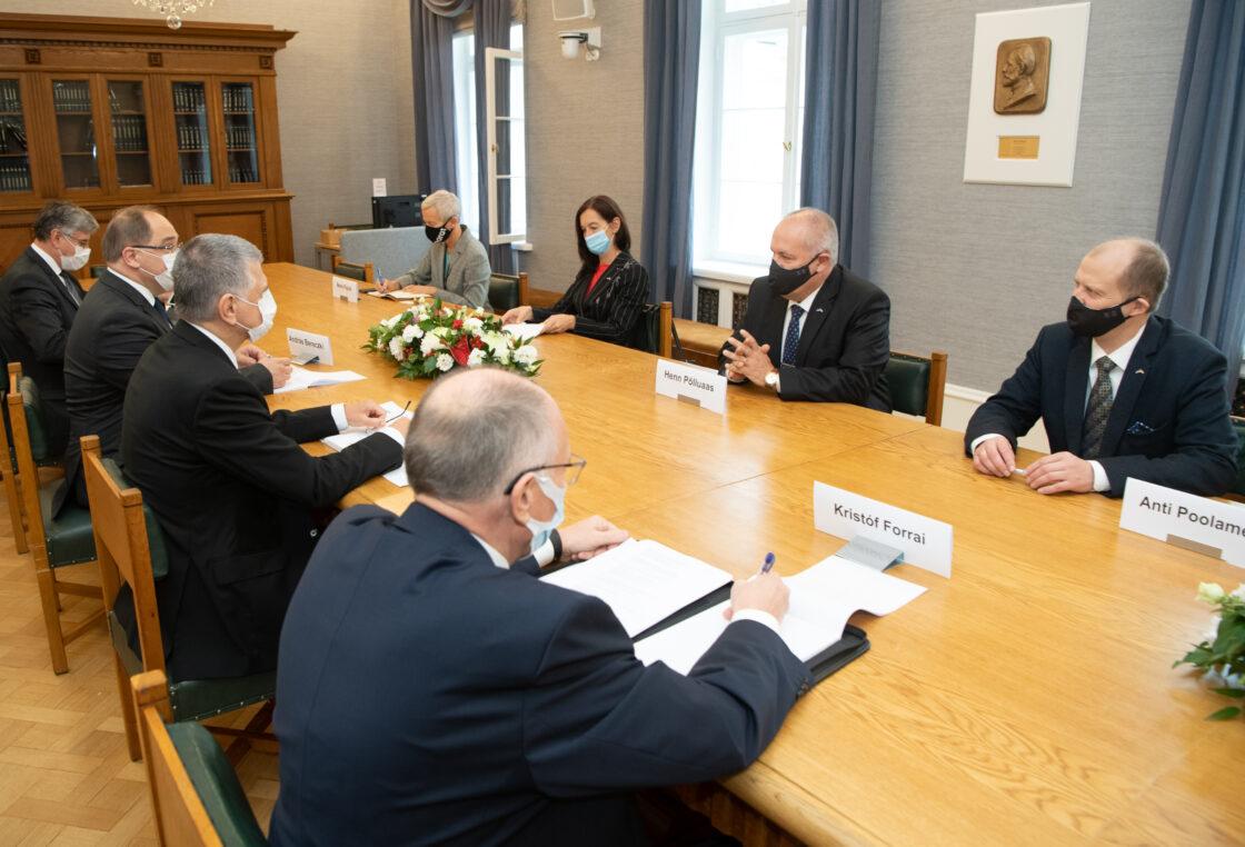 Ungari parlamendi esimehe László Kövéri kohtumine Riigikogu esimehe ja delegatsiooniga