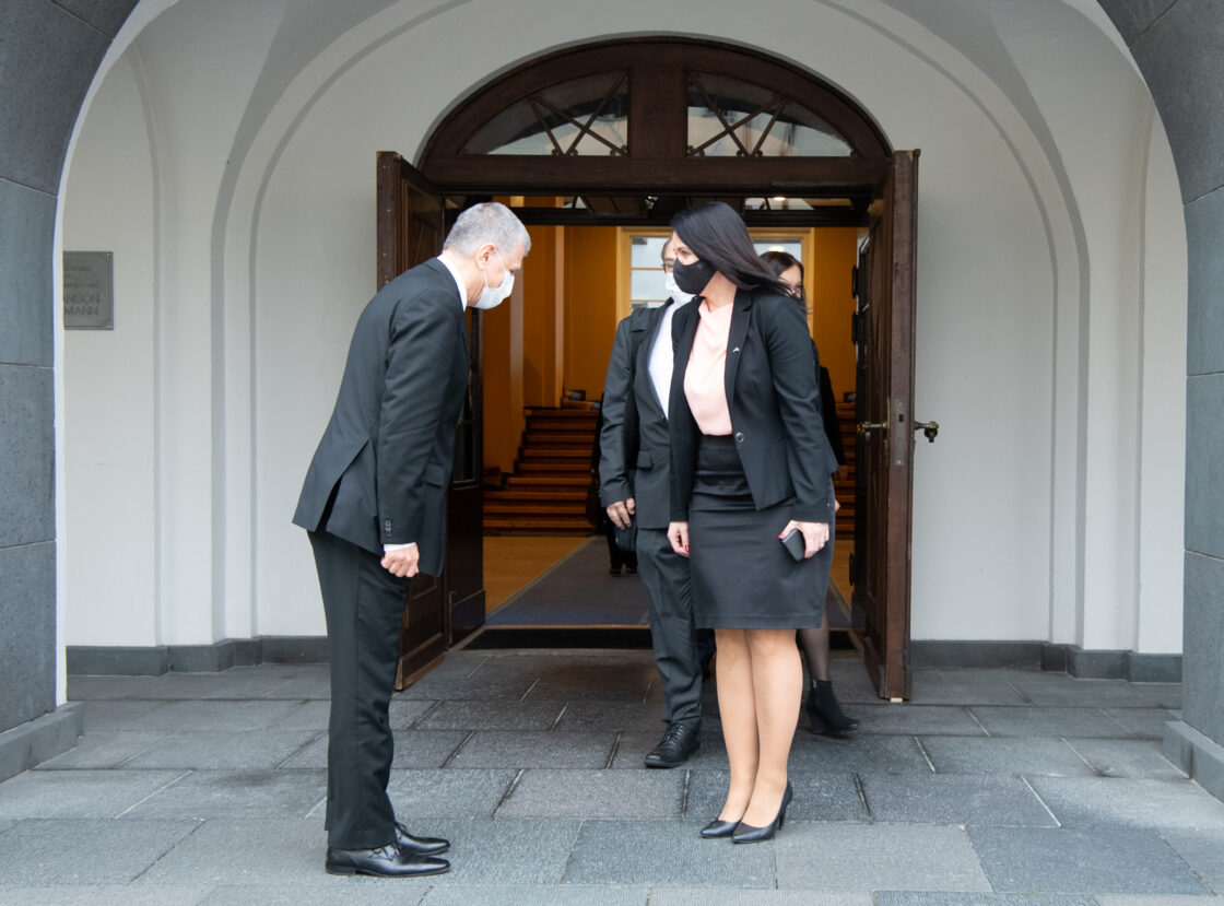 Ungari parlamendi esimehe László Kövéri ja Euroopa Liidu asjade komisjoni esimehe Anneli Otti kohtumine