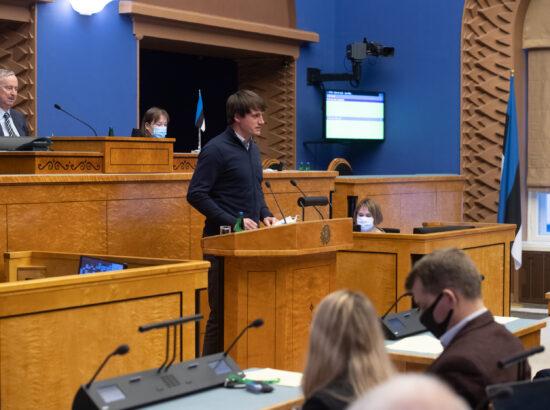 Reisiparvlaeva Estonia hukust pääsenu Ain-Alar Juhansoni ettekanne