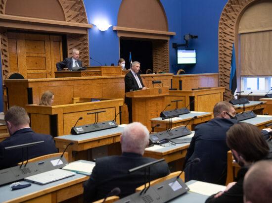 EKRE fraktsiooni liikme Kalle Grünthali ettekanne