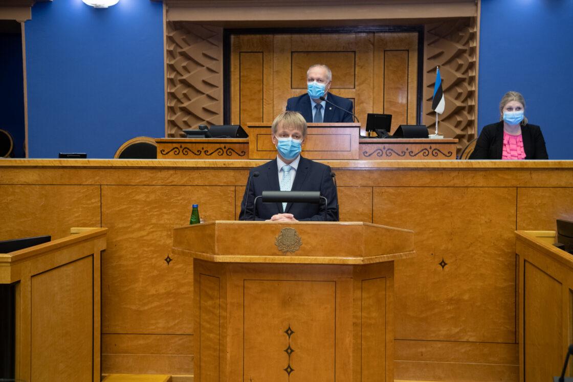 Täiskogu istung, keskkonnaminister Rain Epleri ametivanne