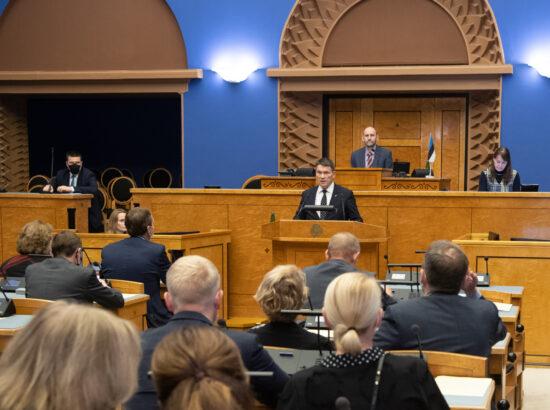 Täiskogu istung, siseminister Alar Lanemani ametivanne