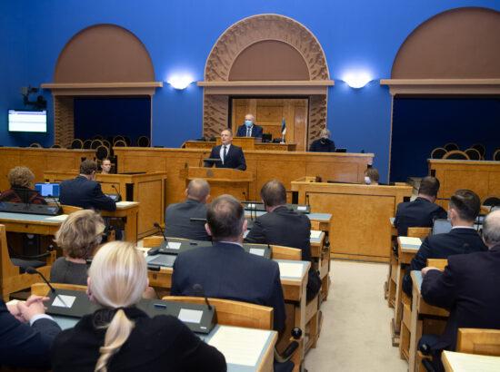 Täiskogu istung, Imre Sooääre ametivanne