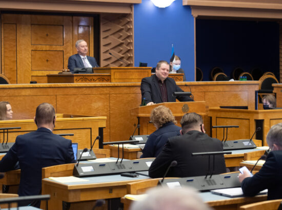 """Täiskogu istung, olulise tähtsusega riikliku küsimuse """"Rohepööre – nii väljakutse kui võimalus Eesti jaoks"""" arutelu"""