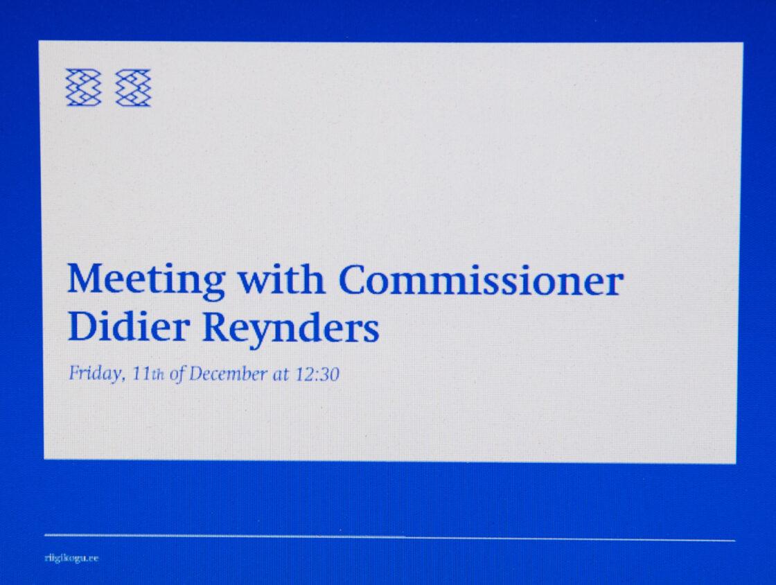 Euroopa Liidu asjade komisjoni ja põhiseaduskomisjoni kohtumine Euroopa Komisjoni justiitsvoliniku Didier Reyndersiga