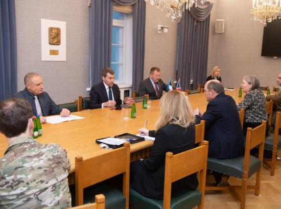 Riigikaitsekomisjoni kohtumine Ühendkuningriigi kaitseministri Ben Wallace'iga