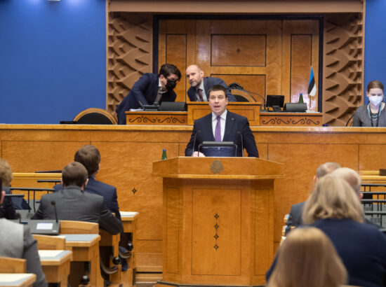 Täiskogu istung, peaministri poliitiline avaldus seoses COVID-19 haigusega kujunenud olukorraga Eestis