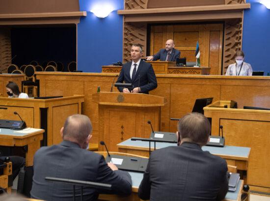 Täiskogu istung, Marko Tormi ametivanne