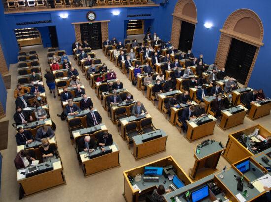 Täiskogu istung, Eduard Odinetsi ametivanne