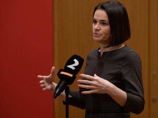 Valgevene opositsiooni liider Svjatlana Tsihhanovskaja