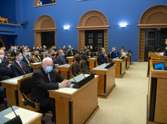 Täiskogu istung, küsimus peaministrikandidaat Kaja Kallasele volituste andmisest valitsuse moodustamiseks