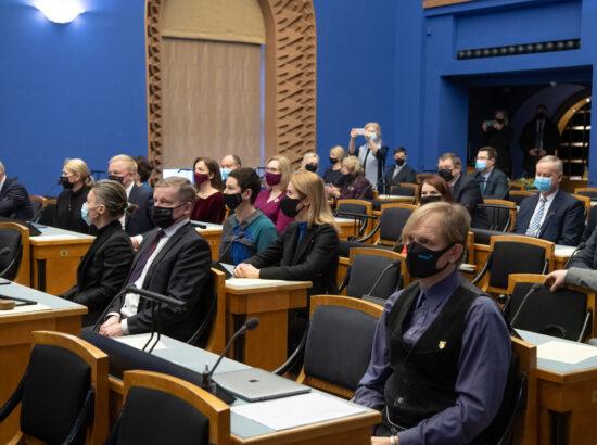 Täiskogu istung, uue valitsuse liikmed andsid ametivande, 26. jaanuar 2021