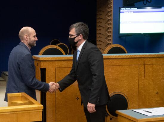Riigikogu liikme Toomas Järveoja ametivanne