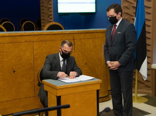 Riigikogu liikme Timo Suslovi ametivanne