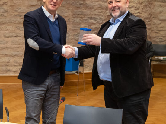 Majanduskomisjoni esimees Kristen Michal ja aseesimees Sven Sester