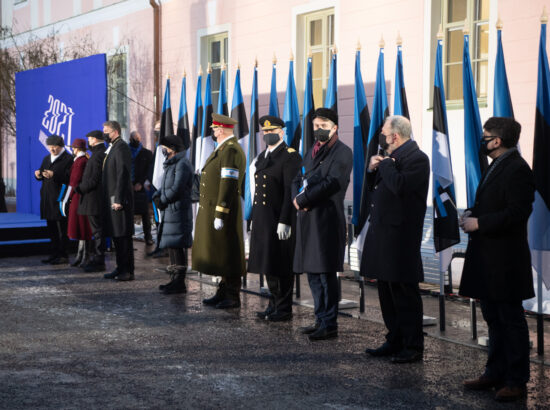 Eesti Vabariigi 103. aastapäeva lipuheiskamise tseremoonia