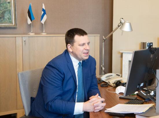 Riigikogu esimehe Jüri Ratase kohtumine Soome parlamendi esimehe Anu Vehviläineniga