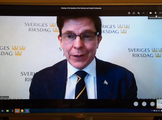 Riigikogu esimehe Jüri Ratase kohtumine Rootsi parlamendi esimehe Andreas Norléniga