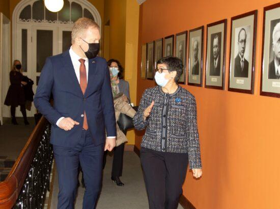 Väliskomisjoni esimehe Marko Mihkelsoni kohtumine Hispaania välisministri Arancha González Layaga