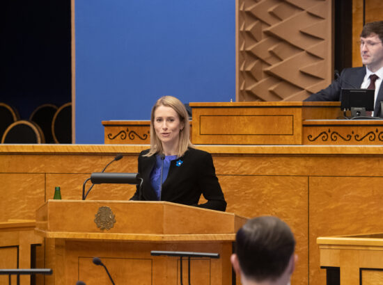 Täiskogu istung, peaministri poliitiline avaldus koroonaviiruse mõjude leevendamise kavast