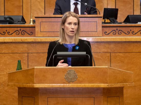 Täiskogu istung, peaministri poliitiline avaldus ühiskonnaelu korraldamise kavast koroonaviiruse leviku tingimustes