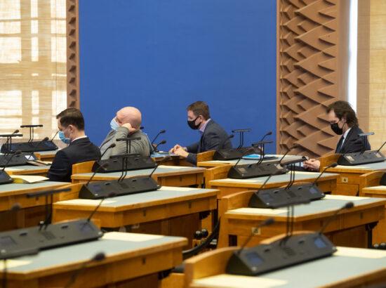 """Täiskogu istung, peaministri poliitiline avaldus koroonaviiruse mõjude leevendamise kavast ning kultuuriministri ettekanne """"Spordipoliitika põhialuste aastani 2030"""" täitmisest"""