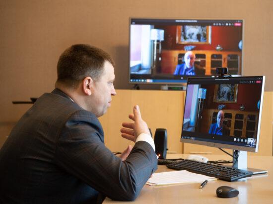 Riigikogu esimehe Jüri Ratase kohtumine Islandi parlamendi esimehe Steingrímur J. Sigfússoniga