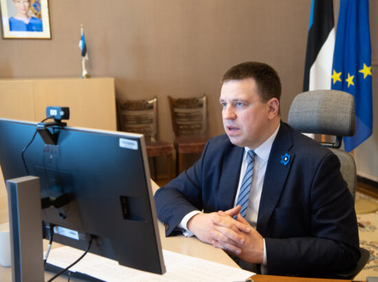 Riigikogu esimehe Jüri Ratase kohtumine Euroopa Parlamendi presidendi David Sassoliga