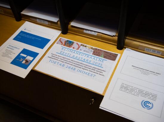 """Keskkonnakomisjoni algatatud olulise tähtsusega riikliku küsimuse """"Kliimaneutraalne Eesti aastaks 2035?"""" arutelu"""