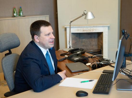 Riigikogu esimehe Jüri Ratase kohtumine Norra parlamendi esimehe Tone Wilhelmsen Trøeniga