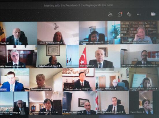 Riigikogu esimehe Jüri Ratase kohtumine diplomaatilise korpuse esindajatega