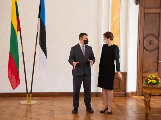 Riigikogu esimees Jüri Ratas ja Leedu parlamendi esimees Viktorija Čmilytė-Nielsen