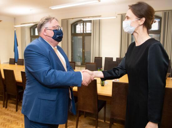 Haridus- ja teadusministeeriumi kantsler Mart Laidmets ja Leedu parlamendi esimees Viktorija Čmilytė-Nielsen