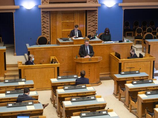Täiskogu istung, Riigikohtu esimehe Villu Kõve ülevaade kohtukorralduse, õigusemõistmise ja seaduste ühetaolise kohaldamise kohta