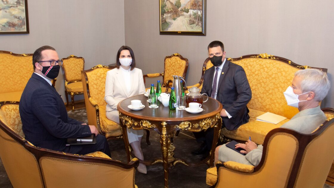 Riigikogu esimehe Jüri Ratase kohtumine Valgevene opositsiooni esindaja Svjatlana Tsihhanovskajaga