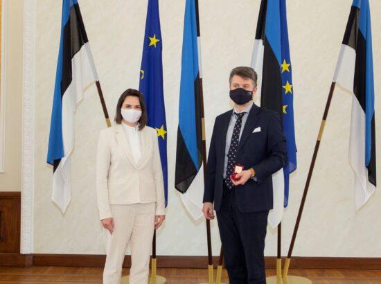 Riigikogu liikme Urmas Reinsalu kohtumine Valgevene opositsiooni esindaja Svjatlana Tsihhanovskajaga