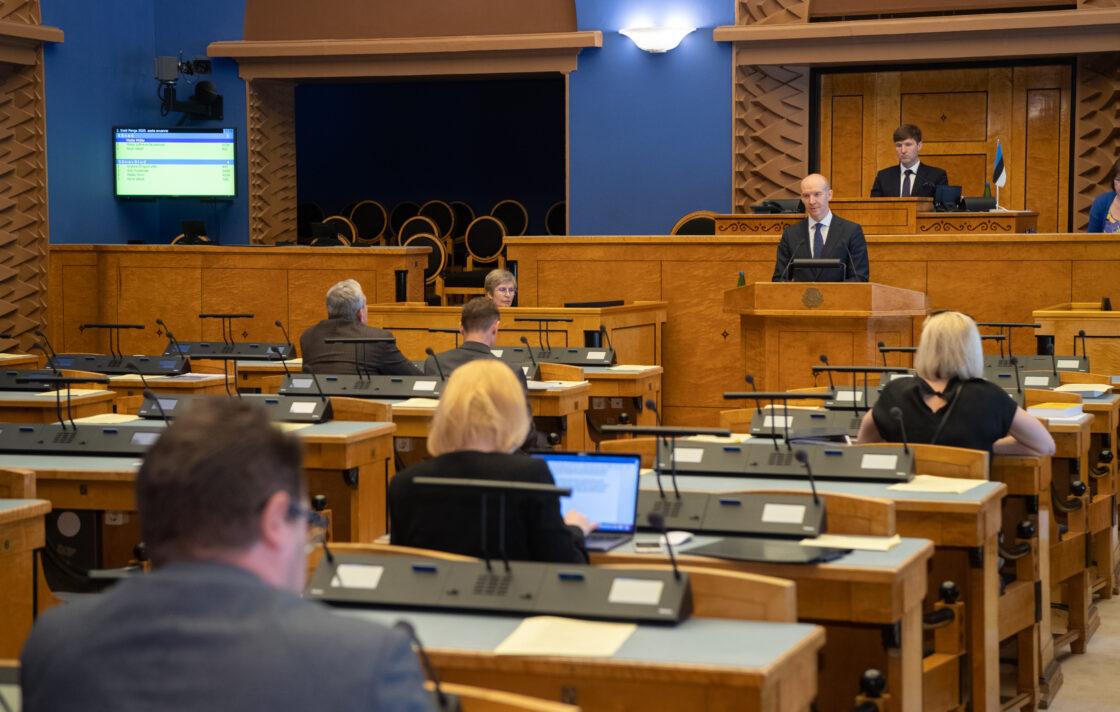 Eesti Panga 2020. aasta aruanne. Ettekande tegi Eesti Panga president Madis Müller.