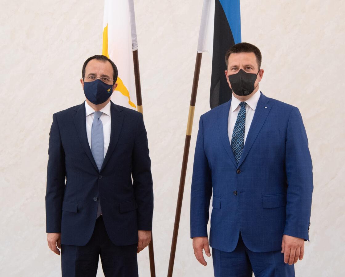Riigikogu esimees Jüri Ratas ja Küprose välisminister Nikos Christodoulides