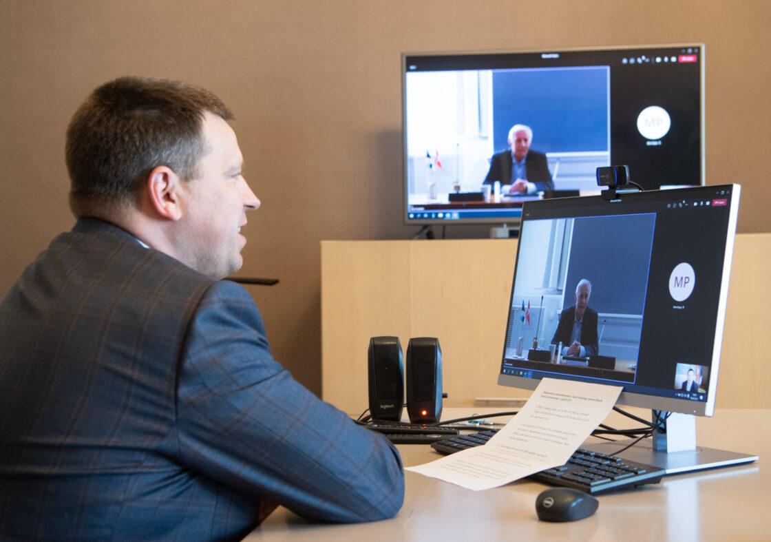 Riigikogu esimehe Jüri Ratase kohtumine Taani parlamendi esimehe Henrik Dam Kristenseniga