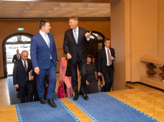 Riigikogu esimees Jüri Ratas ja Rumeenia president Klaus Werner Iohannis