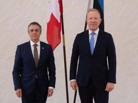 Riigikogu väliskomisjoni esimehe Marko Mihkelsoni  kohtumine Šveitsi välisminister Ignazio Cassisega