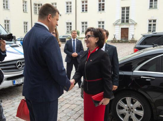 Poola Sejmi marssali Elżbieta Witeki visiit