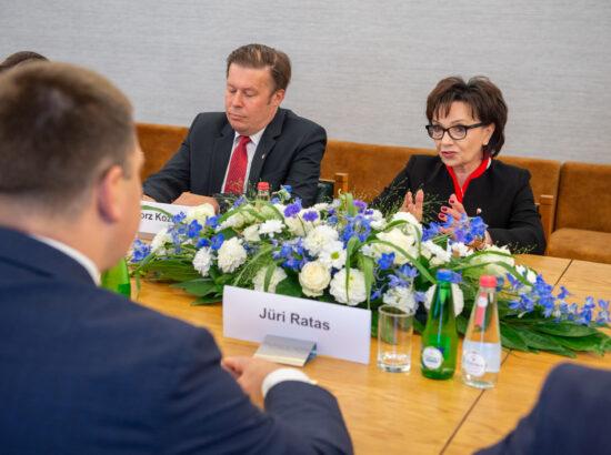 Poola Sejmi marssal Elżbieta Witek ja Riigikogu esimees Jüri Ratas